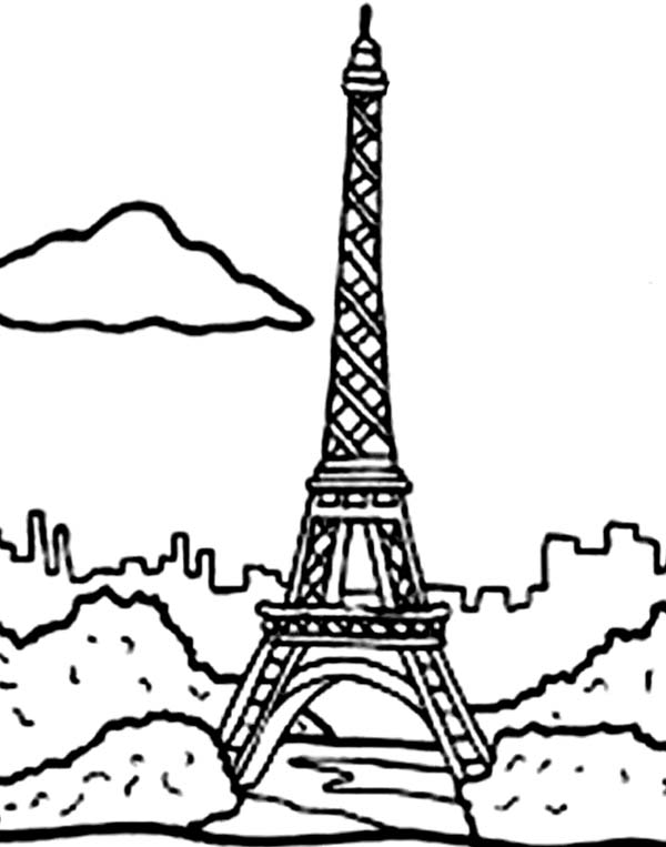 Holiday In Eiffel Tower Coloring Page - Download & Print ...