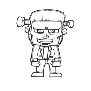 Horrible Frankenstein Coloring Page