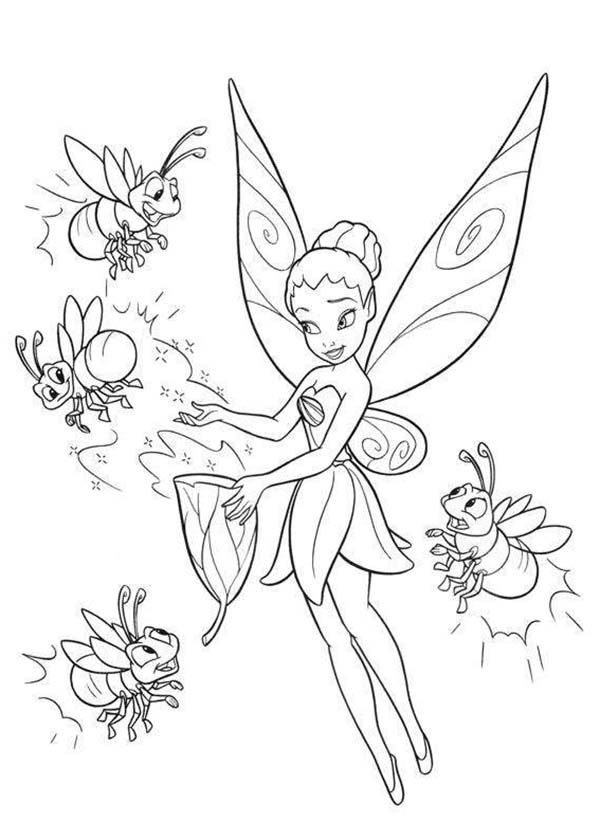 Iridessa And Disney Fairies Coloring Page Download Print