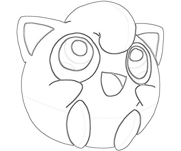 jigglypuff character coloring page