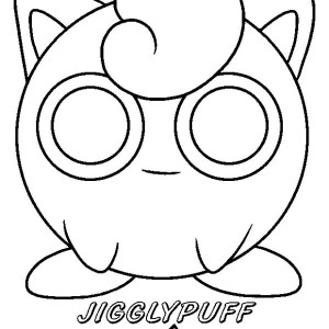 Jigglypuff Pokemon Coloring Page