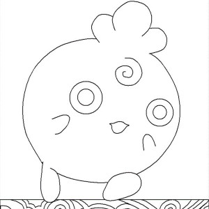 Jigglypuff Pokemon Had Headache Coloring Page