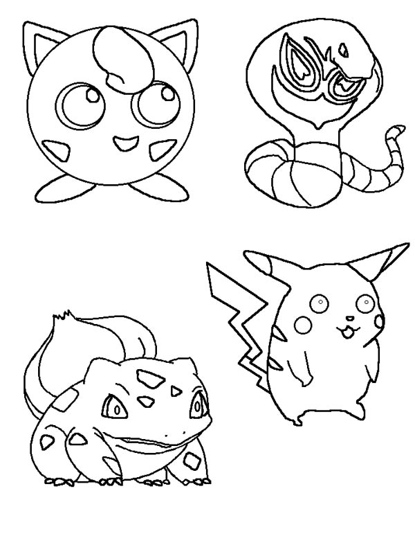 jigglypuff and other characters coloring page