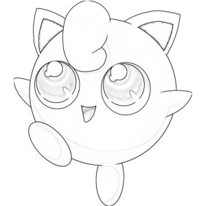 Jigglypuff Is Very Happy Coloring Page