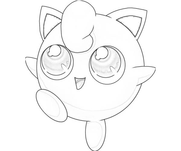 Jigglypuff Is Very Happy Coloring Page - Download & Print ...