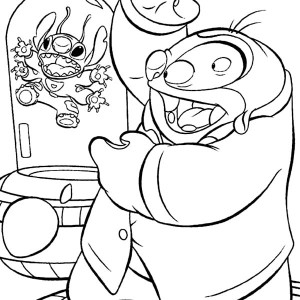 Jumba Jookiba Imprison Stitch In Lilo & Stitch Coloring Page