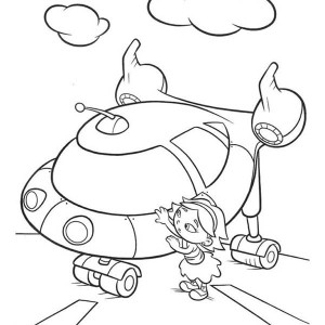 June From Little Einsteins Getting In Rocket Coloring Page