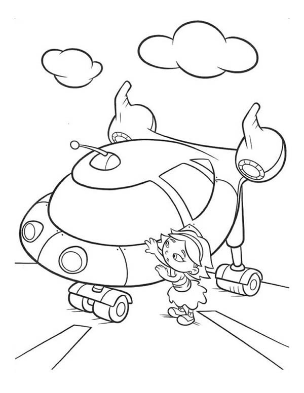 little einstein rocket ship coloring pages | June From Little Einsteins Getting In Rocket Coloring Page ...