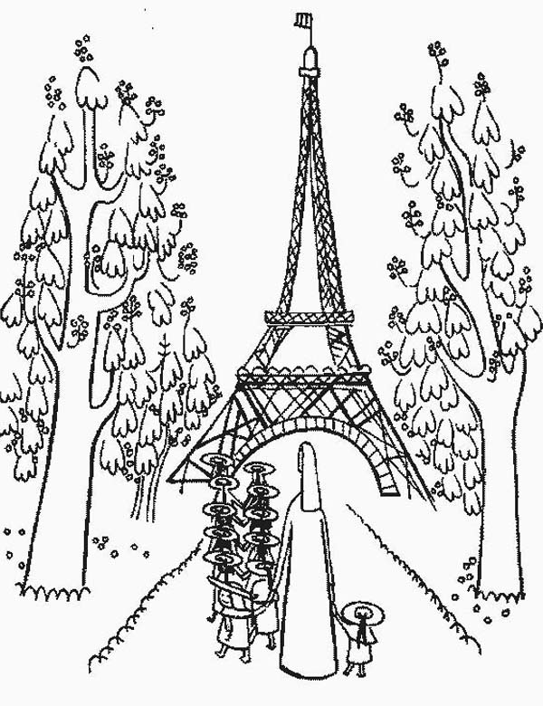 Eiffel Tower Coloring Page Drawing The Eiffel Tower Foto von ... | 780x600