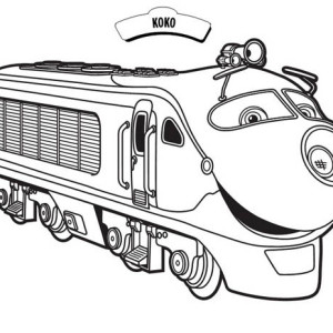 Koko From Chuggington Coloring Page