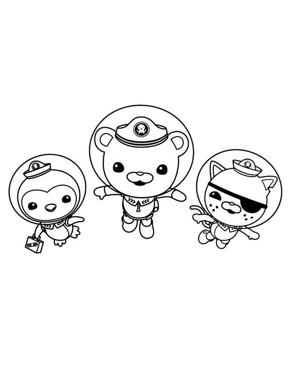 - Kwazii And Peso And Captain Barnacles Swimming In The Octonauts Coloring  Page - Download & Print Online Coloring Pages For Free Color Nimbus