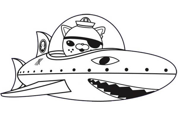 Kwazii And Shark Submarine In The Octonauts Coloring Page Download Print Online Coloring Pages For Free Color Nimbus