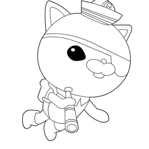 Kwazii From The  Octonauts Exploring The Sea Coloring Page