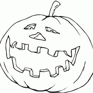 Laughing Pumpkins Coloring Page