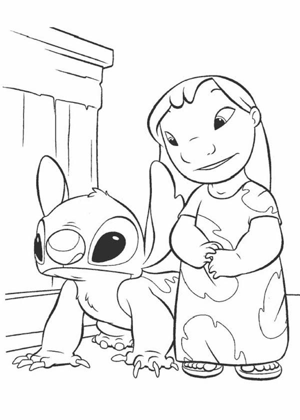 Lilo & Stitch coloring pages | Free Coloring Pages | 841x600