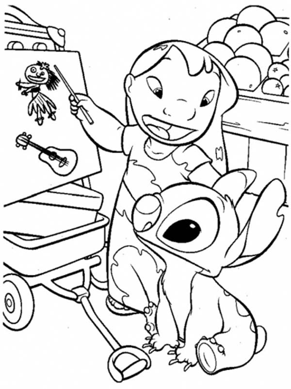 Lilo Teach Stitch In Lilo Stitch Coloring Page Download Print Online Coloring Pages For Free Color Nimbus