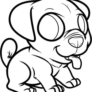 Little Dog Puppy To Pet Coloring Page