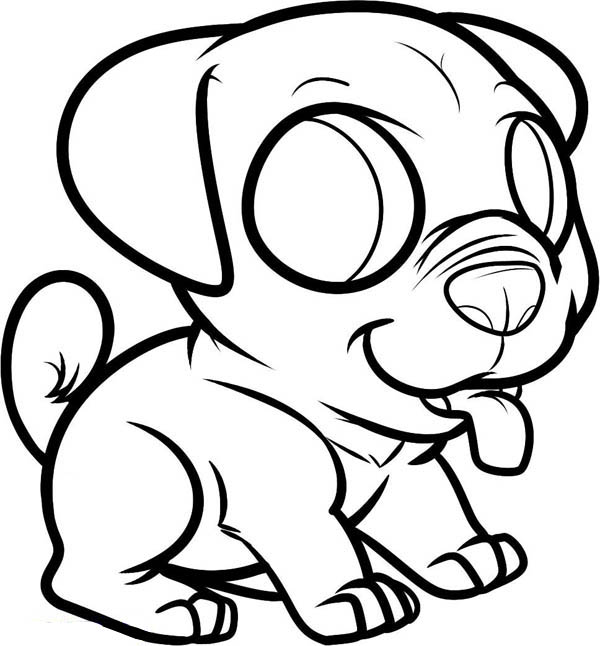 Little Dog Puppy To Pet Coloring Page - Download & Print ...