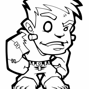 Little Frankenstein Coloring Page