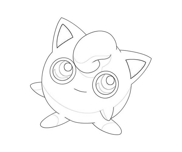 Little Pokemon Jigglypuff Coloring Page Download Print