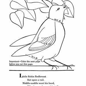 Little Robin Redbreast Coloring Page