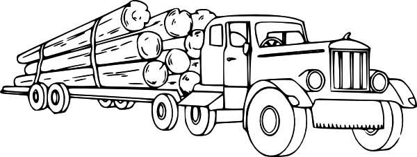 - Logging Semi Truck Coloring Page - Download & Print Online Coloring Pages  For Free Color Nimbus