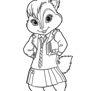 Lovely Brittany The Chipettes Coloring Page