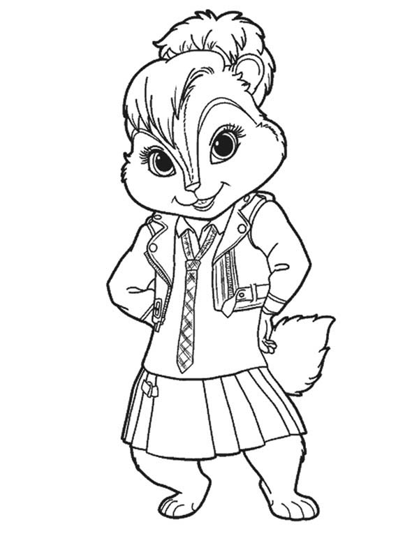 Lovely Brittany The Chipettes Coloring Page Download Print