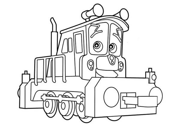 lovely dunbar of chuggington coloring page  download