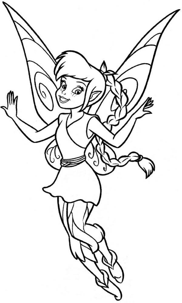 Lovely Fawn From Disney Fairies Coloring Page Download Print