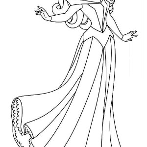 Lovely Princess Aurora Coloring Page