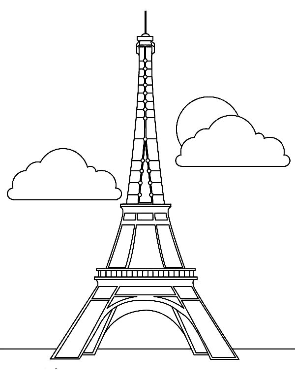 Magnificent Eiffel Tower Coloring Page