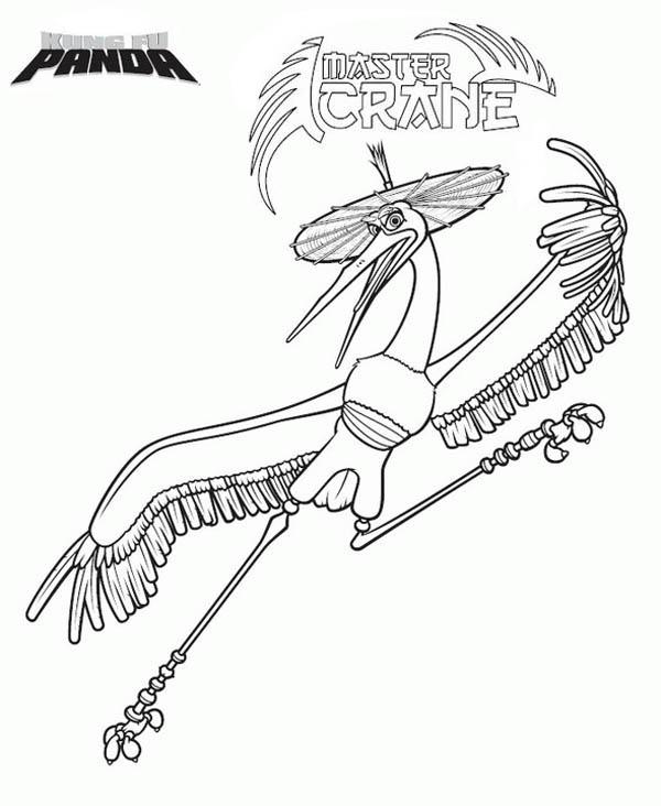 Master Crane Of Kung Fu Panda Coloring
