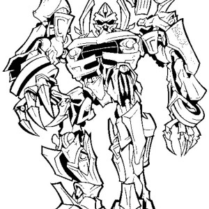 Megatron Evil Plan To Take Over The World In Transformers Coloring Page