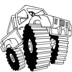 Monster Truck Black Stallion Coloring Page