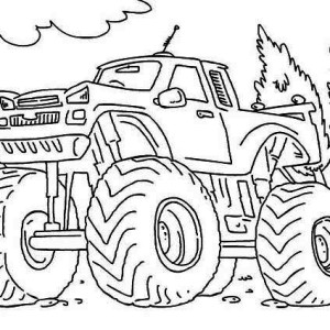 Monster Truck Iron Outlaw Coloring Page