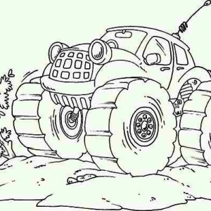 Monster Truck Radio Control Coloring Page
