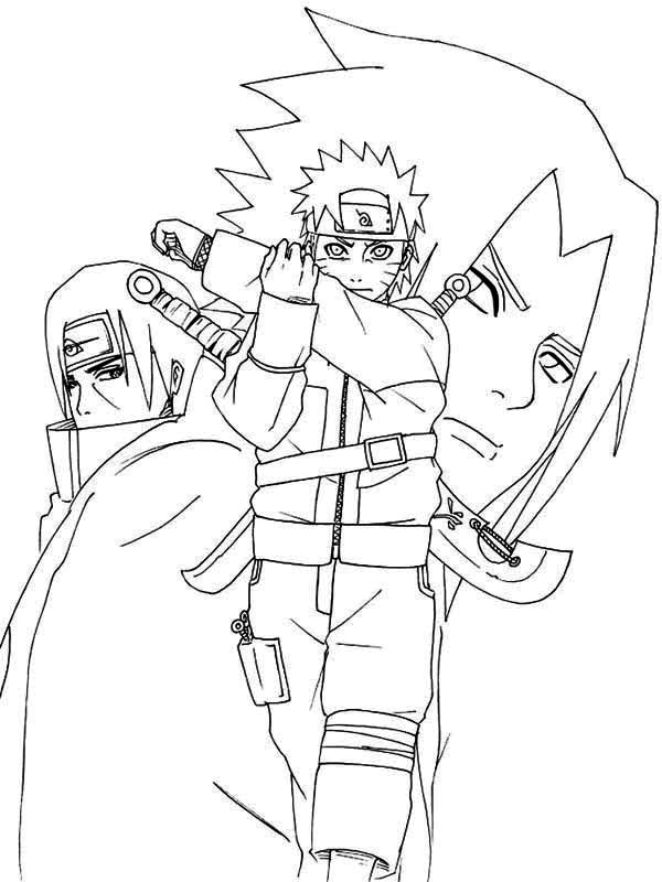 naruto print out coloring pages - photo#36