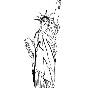 New York Statue Of Liberty Coloring Page