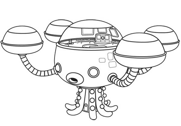 Octopod The Octonauts Octopus Submarine Coloring Page ...