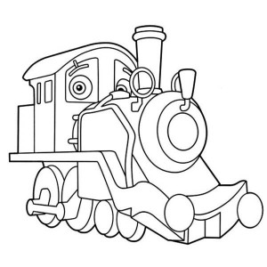 Old Puffer Pete From Chuggington Coloring Page