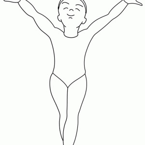 Olympics Gymnastics Finish In Gymnastic Coloring Page