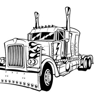 Optimus Prime Transform To Transformers Coloring Page