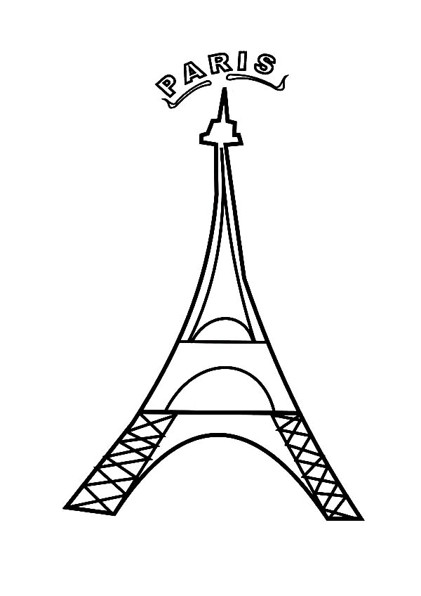 Paris France Eiffel Tower Coloring Page Download Print