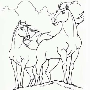 Perfect Horses Couple Coloring Page