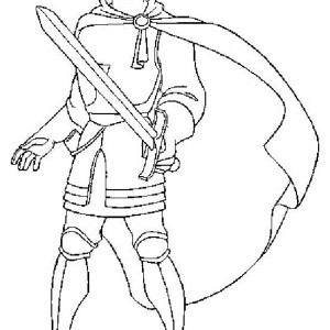 Phoebus Draw His Sword In The Hunchback Of Notre Dame Coloring Page