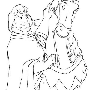 Phoebus And His Horse In The Hunchback Of Notre Dame Coloring Page