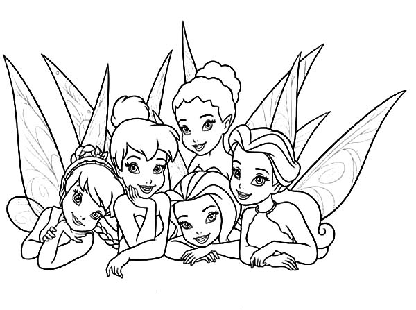 Picture Of Beautiful Disney Fairies Coloring Page - Download & Print ...