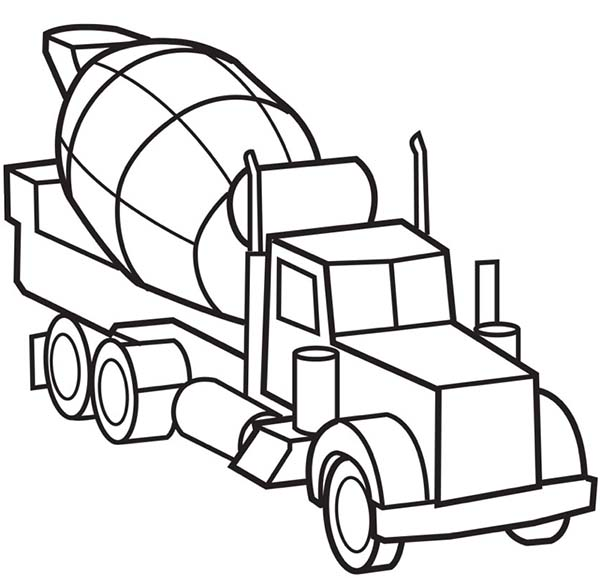 coloring book ~ Coloring Book 1543543841 Cement Mixer Truck Pages ... | 578x600
