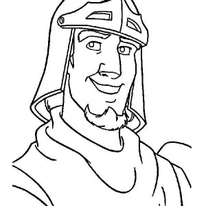 Picture Of Phoebus From The Hunchback Of Notre Dame Coloring Page